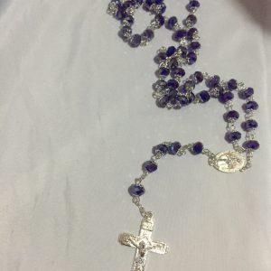 Crystal purple Rosary