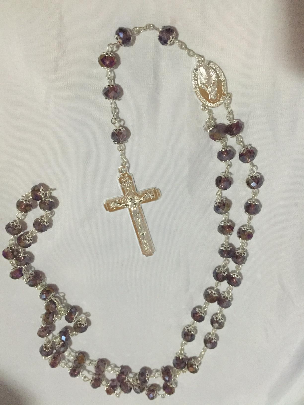 Crystal Topaz Rosary