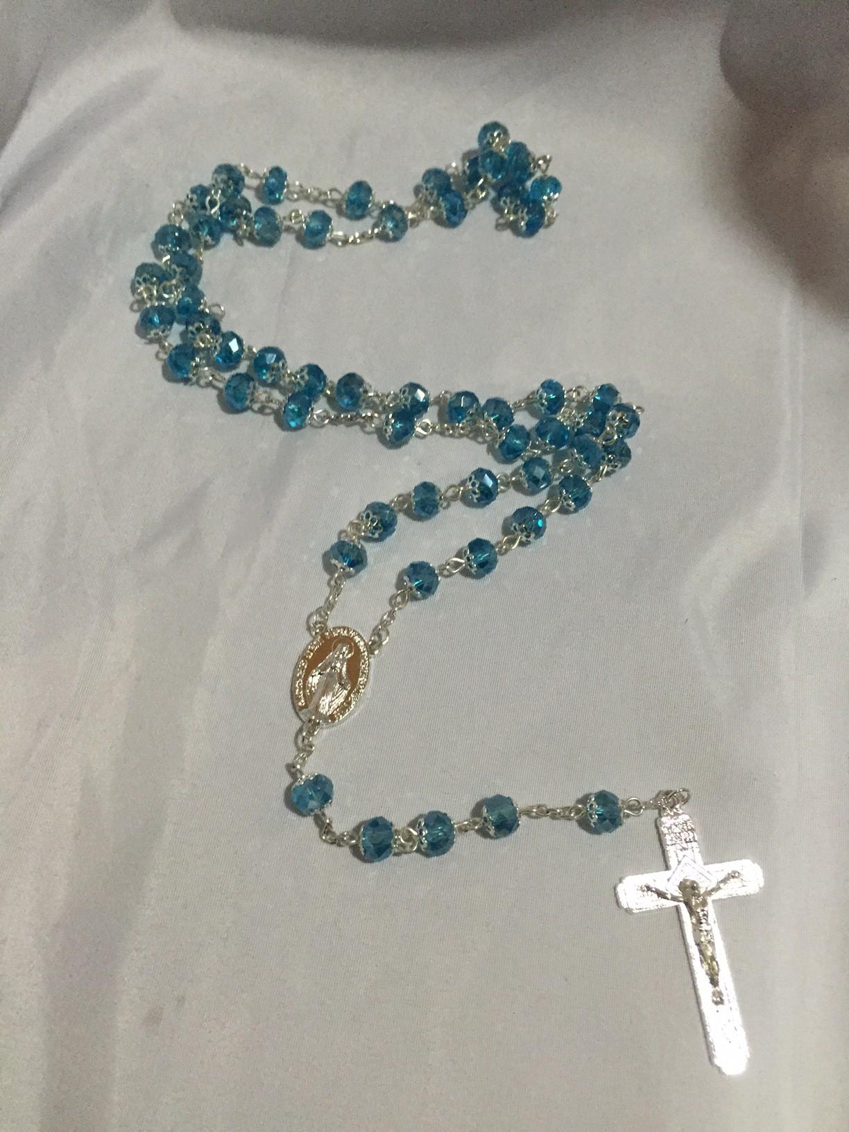 blue crystal rosary