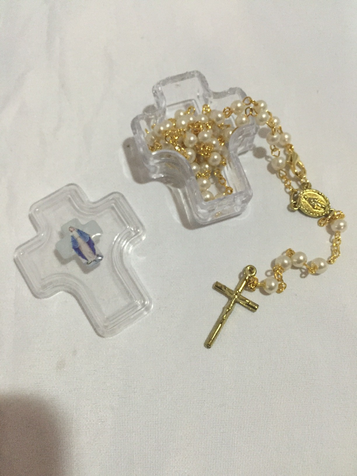 pearl gold plated rosary