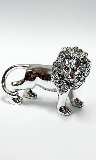 SILVER PLATED LION