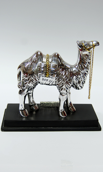 SILVER PLATED CAMEL