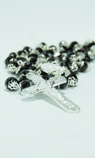 black crystal rosary