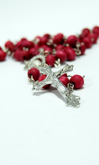 rose wood rosary