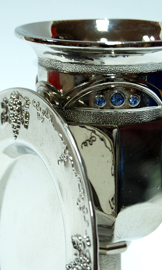 silver plated cup