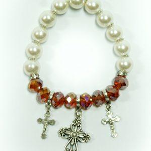 Bracelet With Crosses - tupaz poppy color