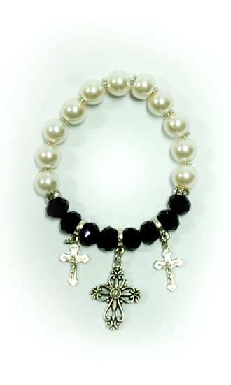 Bracelet With Crosses - Onyx Color