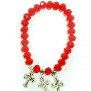 Bracelet With Crosses - Red