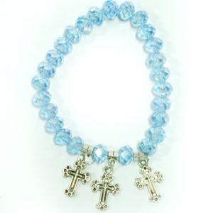 Bracelet With Crosses - Blue