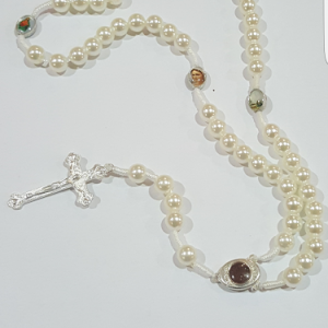 synthetic pearl rosary