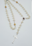 synthetic pearl with icons rosary