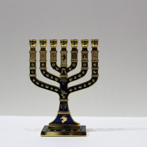 BLUE MENORAH (MEDIUM)