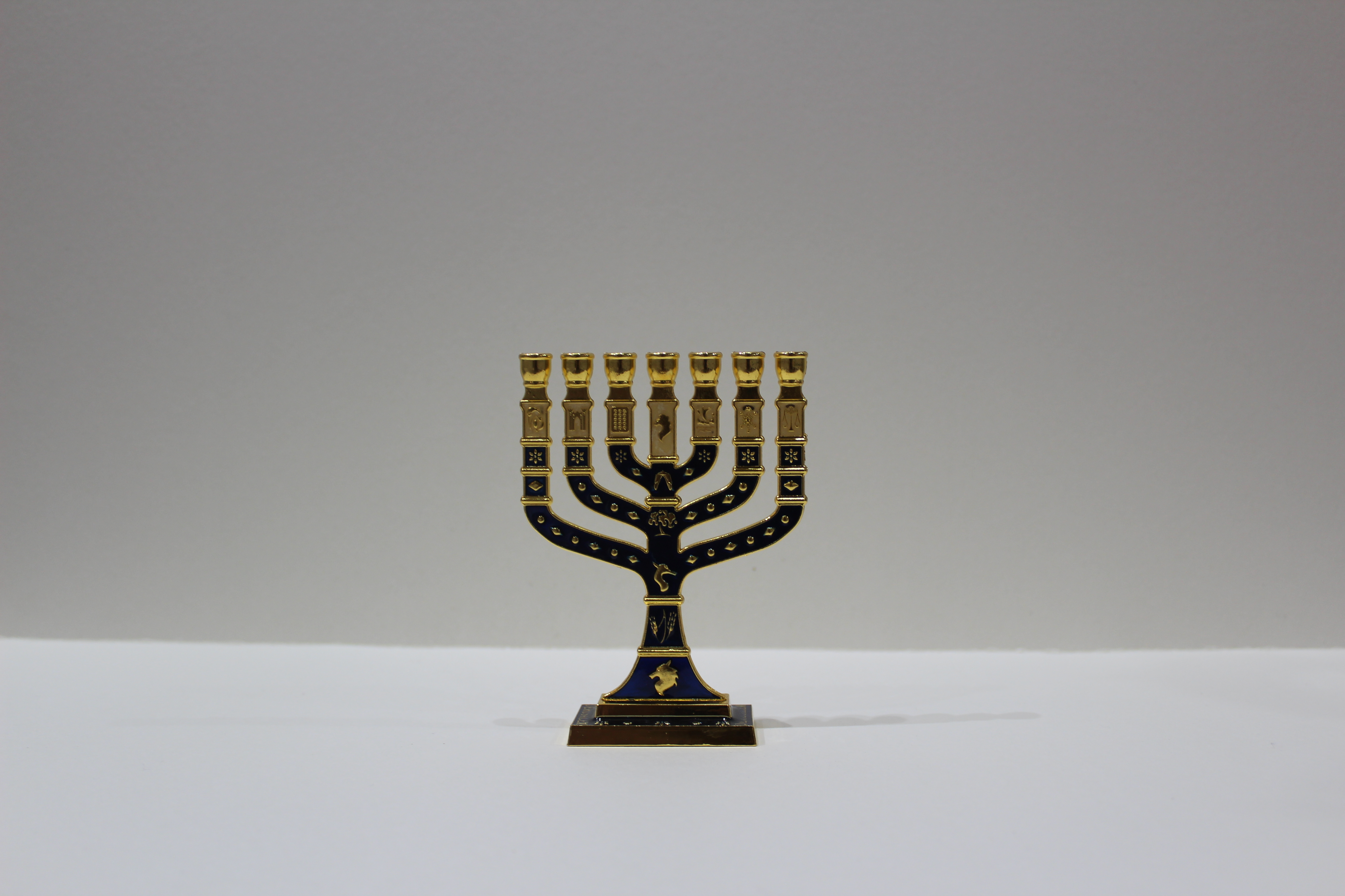 BLUE MENORAH (SMALL)