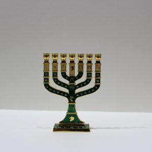 GREEN MENORAH (SMALL)