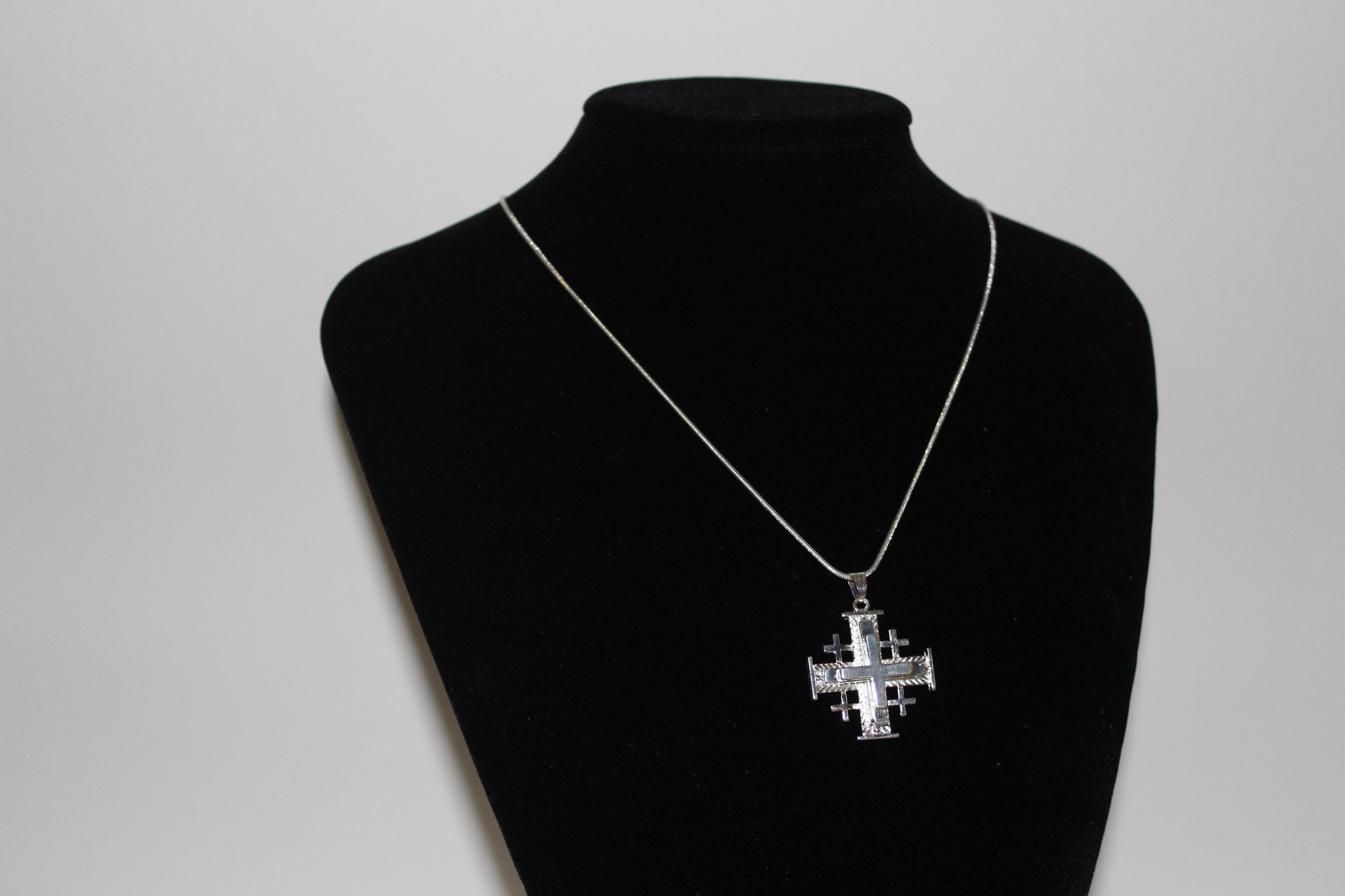 JERUSALEM CROSS- silver