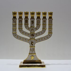 WHITE MENORAH (BIG)