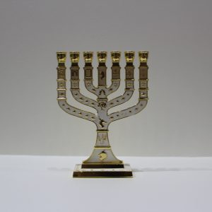 WHITE MENORAH (MEDIUM)