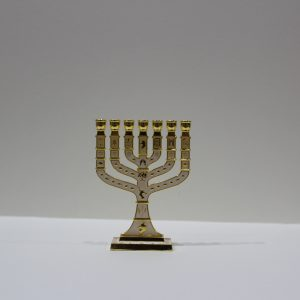 WHITE MENORAH (SMALL)